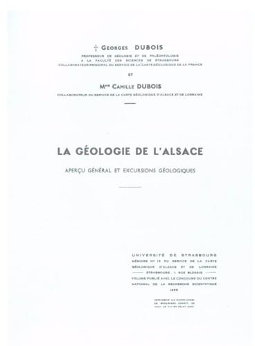 La Géologie De Lalsace Aperçu Général Et Excursions Géologiques