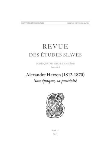 Alexandre Herzen La Main Vive Et La Main Morte Dans Sa