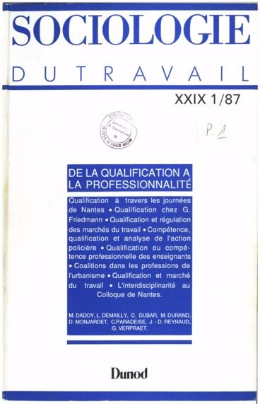 La Notion De Qualification Chez Georges Friedmann Persee