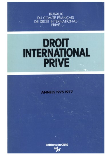 Droit international priv travaux du comit fran ais de droit international - Droit du proprietaire travaux ...