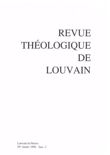 François Martin, Pour une théologie de la lettre. L'inspiration des ...