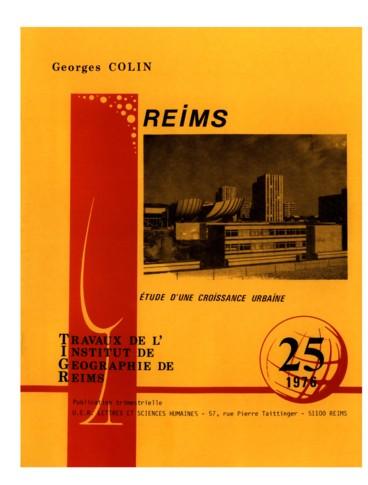 travaux de l 39 institut g ographique de reims n 25 1976 reims tude d 39 une croissance urbaine. Black Bedroom Furniture Sets. Home Design Ideas