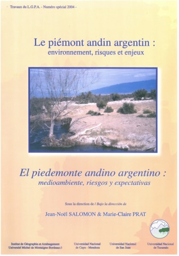 Le Piémont Andin Argentin Environnement Risques Et Enjeux