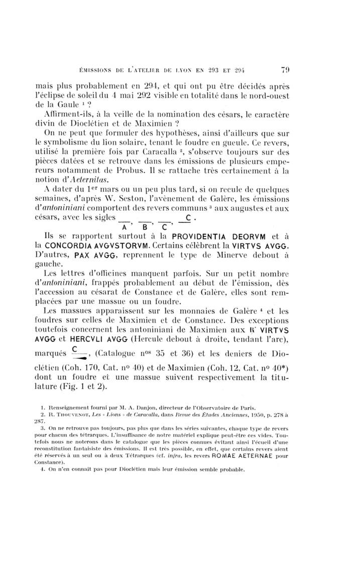 Aureliani de Lyon de Dioclétien et de ses corégents - Page 3 Numi_0484-8942_1959_num_6_2_T1_0079_0000