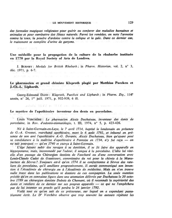 L'apothicaire français Alexis Duchâteau de Saint-Germain-en-Laye